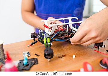 электронный, трутень, connecting, parts, человек