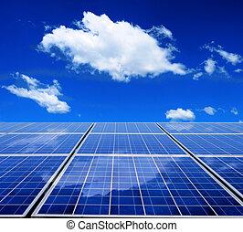 энергия, солнечный, панель