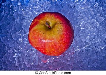 яблоко, лед