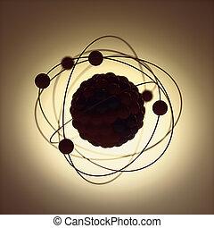 ядерной, энергия, атомное, мощность