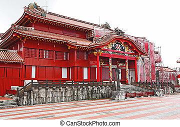 япония, замок, shuri, окинава
