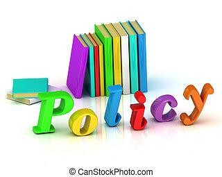 яркий, политика, объем, письмо, надпись, 3d