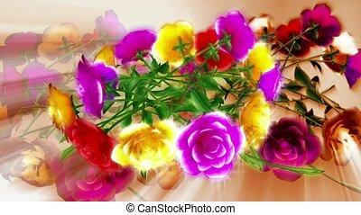 яркий, цветы