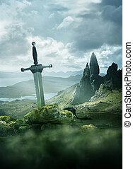 אבירים, עתיק, חרב, רקע