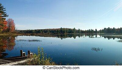 אגם, בוקר