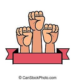 אגרופים, ידיים, איקונים