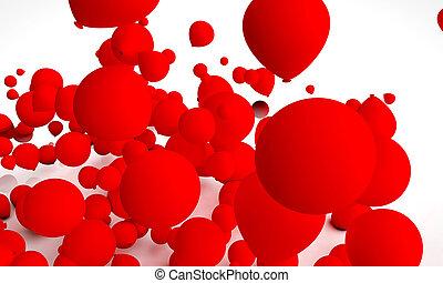 אדום, בלונים