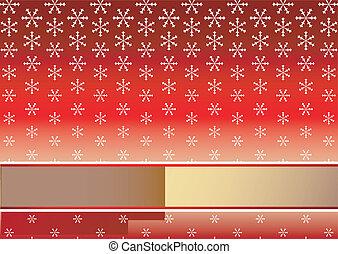 אדום, חג המולד, רקע, עם, פתיתות שלג, (vector)