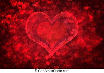 אדום, מבריק, יום של ולנטיין, רקע