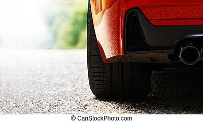 אדום, מכונית ספורט