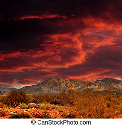 אדום, שמעיים, מידבר של סונורה, הרים