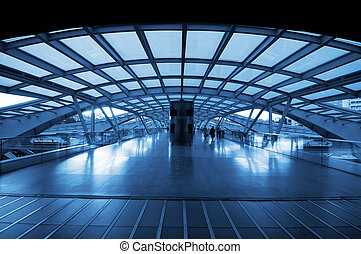 אדריכלות, של, מודרני, תחנת רכבת