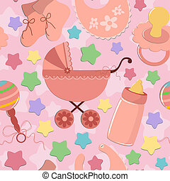 אוביקטים, תינוק, seamless, רקע