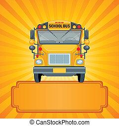 אוטובוס, בית ספר, צהוב