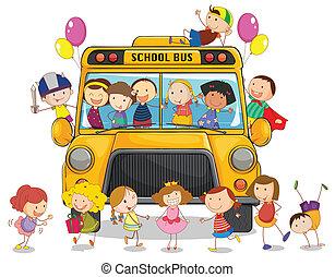 אוטובוס, ילדים של בית הספר