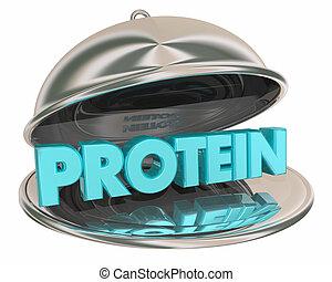 אוכל, דוגמה, בררה, בריא, חלבון, טס, אכל, 3d