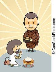 אוכל, להתפלל, קערה, נזיר, חייל