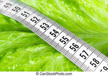 אוכל, למדוד סרט, דיאטה