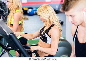 אולם התעמלות, כושר גופני, קבץ, להתאמן, חגורת דוושות