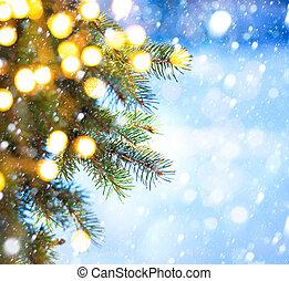 אומנות, עץ, השלג, ענף, נפול, חג המולד