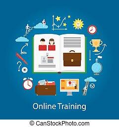 אונליין, webinar, מושג, חינוך