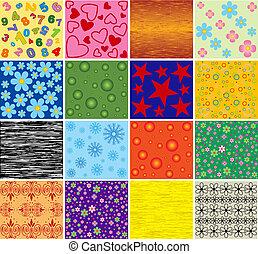 אוסף, של, backgrounds., vector.