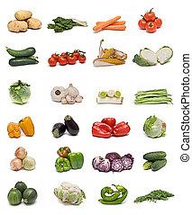 אוסף, של, vegetables.