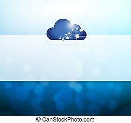 אורות, ענן, דוגמה, לחשב