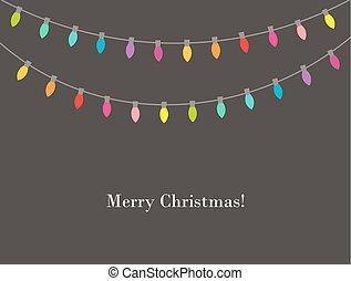 אורות, צבעים, חג המולד, שלשל