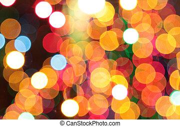 אורות, bokeh, צבעוני, חג המולד, רקע