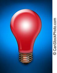 אור אדום, נורת חשמל, ב, כחול