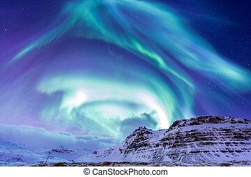 אור, זוהר קוטבי, צפוני, איסלנד