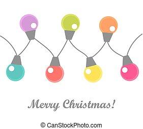 אור, חג המולד, נורות חשמל