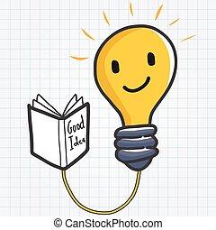 אור, טוב, רעיון, נורת חשמל