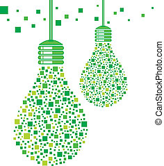 אור ירוק, נורת חשמל, עצב