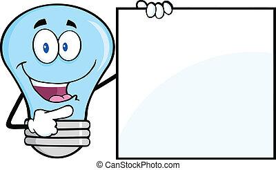 אור כחול, טופס, נורת חשמל, חתום