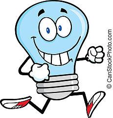 אור כחול, לרוץ, נורת חשמל