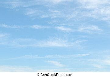 אור כחול, עננים, שמיים