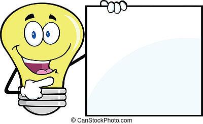 אור, להראות, טופס, נורת חשמל, חתום