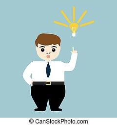 אור, להראות, רעיון, צעיר, נורת חשמל, איש עסקים