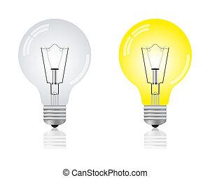 אור, מבריק, נורת חשמל, repaid