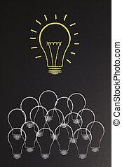 אור, מואר, נורת חשמל, לוח