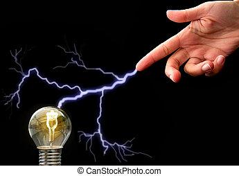 אור, מושג, נורת חשמל