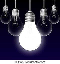 אור, מושג, רעיון, נורת חשמל