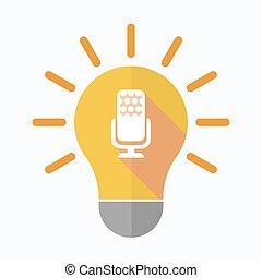 אור, מיקרופון, הפרד, נורת חשמל, חתום