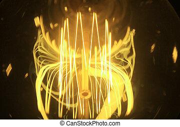 אור צהוב, נורת חשמל, .