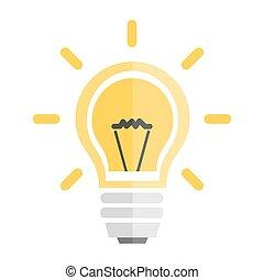 אור צהוב, נורת חשמל