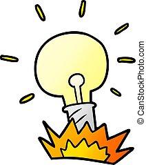 אור, ציור היתולי, נורת חשמל