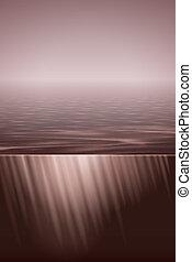 אור שמש, מעל, מים רגועים, ראטרו, הרגש