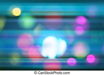 אור, תקציר, bokeh, רקע, תנועה